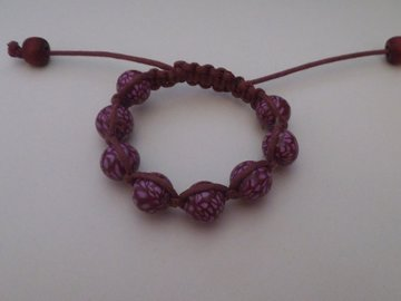 Vente au détail: Bracelet shamballa la confiture de fraises.