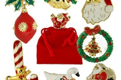 Buy Now: 200-- Christmas Pins-Assorted-- $.75 pcs