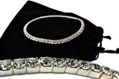 Buy Now: 60-- Swarovski Rhinestone Bracelets--Crystal/Silvertone $3.00 ea