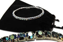 Buy Now: 40-Genuine Swarovski Aurora Borealis Bracelets- $2.99 ea