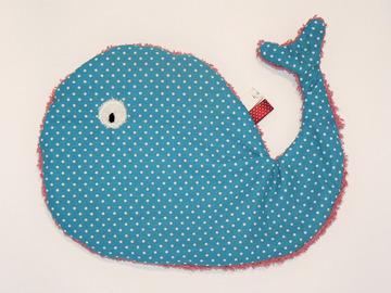 Vente au détail: Doudou de bain - Baleine turquoise
