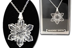 Buy Now: 40- Genuine Swarovski Crystal Snowflake Necklace-Boxed $3.50 ea
