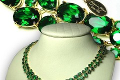 Buy Now: 2-Suzanne Somers' Sterling Silver Vermeil Emerald CZ Necklace