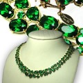 Compra Ahora: 2-Suzanne Somers' Sterling Silver Vermeil Emerald CZ Necklace