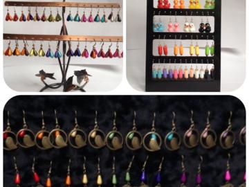 Sale retail: Boucles d'oreilles en perles magiques