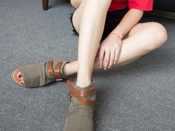Vente avec paiement en ligne: 2018 Femmes Sandales D'été Toile Peep Toe Chaussures À Bout
