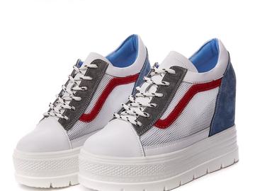 Vente avec paiement en ligne: D'été Plate-Forme de Coins Femmes Sneakers Printemps Mesh