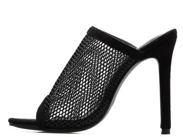 Vente avec paiement en ligne: D'été À Bout Ouvert Sandales Femmes Mule Diapositives Maille