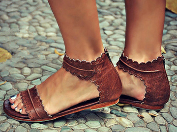Vente avec paiement en ligne: Sandales Rétro Sandales Plates Pour Femmes Chaussures D'été