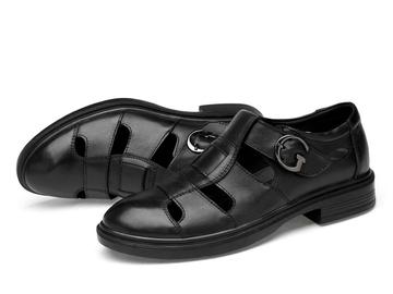 Vente avec paiement en ligne: Mode Robe D'été Hommes Sandales 100% Véritable leathe Appartement