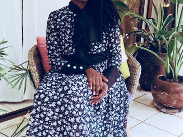 Vente au détail: Robe Leymah en mousseline imprimé