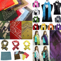 Buy Now: New 100 Fashion Scarfs Assorted Skull, Peace sign, Bandana, Lurex
