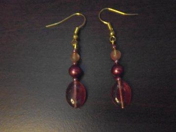 Vente au détail: Boucles d'oreilles couleur d'Automne.