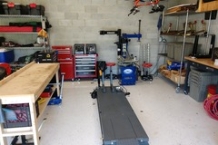 Daily: Private Garage with Motorcycle Lift, Tools, and Tire Changer
