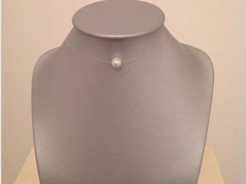 Vente au détail: Collier fil de nylon finition argent925