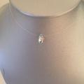Vente au détail: Collier fil de nylon finitions argent925 goutte cristal Swarovski