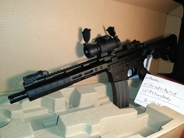 Selling: Mlok Tippman m4 w/ red dot