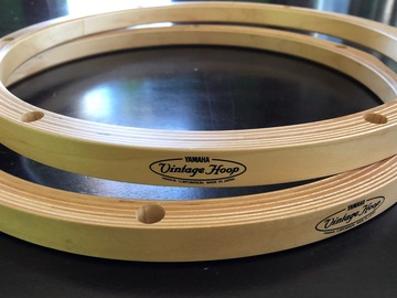 "SOLD!: SOLD! Pair Yamaha ""Vintage"" wood hoops 13 inch"