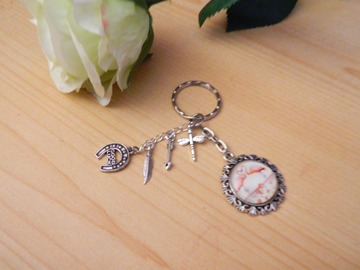 "Sale retail: porte-clefs ""un amour de flamand rose"""