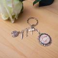"""Vente au détail: porte-clefs """"un amour de flamand rose"""""""