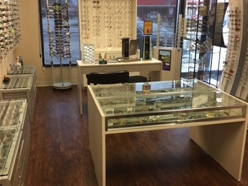 Selling with online payment: Complete Optical Frame bars, Desks,  Glass Displays +
