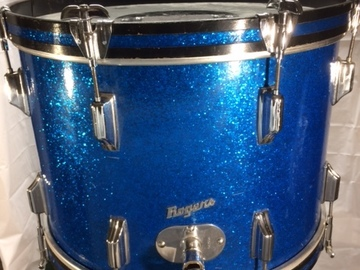 Selling with online payment or cash/check/money order/cash app/Venmo: Rogers Holiday 14xs2 bass drum with dbl tom holder base mount