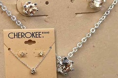Buy Now: 100-- Champagne CZ neck/earrings set  $799.00 retail-- $ .99 each