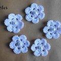Vente au détail: Fleur au crochet/fleurs au crochet/fleurs blanches crochet perles