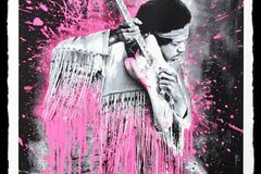 Selling: Jimmy Hendrix (pink) By Mr.Brainwash