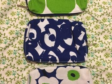 Myydään: Some bags from Finnair first class designed by Marimekko