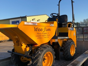 Hourly Equipment Rental: JCB 1t dumper and operator