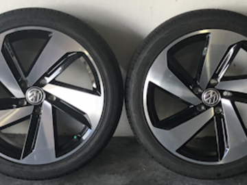 "Selling: VW oe 18"" Dallas wheels and tires"