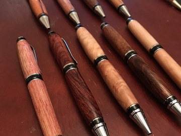 Contract services (per piece): Exotic wood, handmade pens!