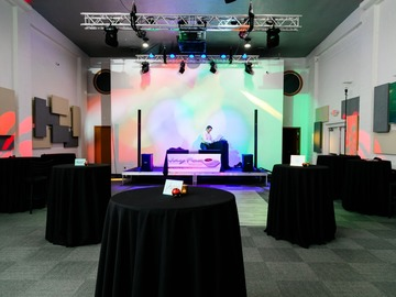 Request To Book & Pay In-Person (hourly/per party package pricing): Renovated Theater Turned Ballroom (with Bridal Suite)