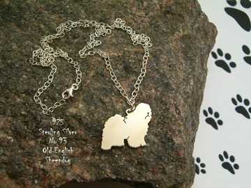 Selling: Necklace Old English Sheepdog * 925 sterling silver
