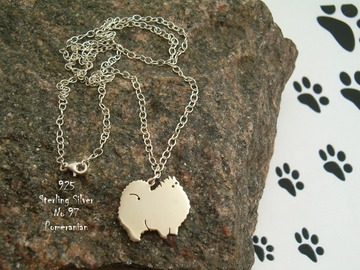 Selling: Necklace Pomeranian * 925 sterling silver