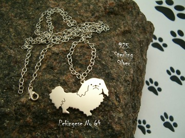 Selling: Necklace Pekingese * 925 sterling silver
