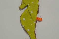 Vente au détail: Doudou de bain - Hippocampe vert anis étoilé