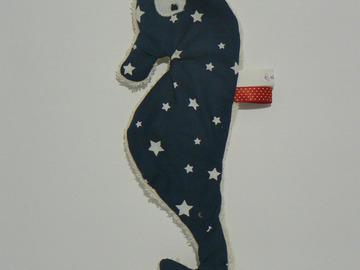 Sale retail: Doudou de bain - Hippocampe bleu étoilé