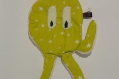 Vente au détail: Doudou de bain - Pieuvre vert anis étoilé