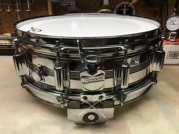 """Selling with online payment: 1975 Rogers 5""""x14"""" Big R Dynasonic Snare Drum"""