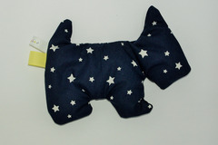 Sale retail: Bouillotte sèche - Chien Bleu nuit - création originale
