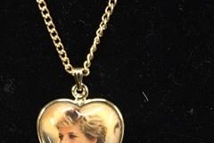 Liquidation/Wholesale Lot: 100-- Princess Diana Pendant Necklace-Vintage- $1.99 each
