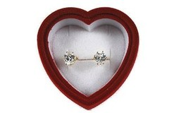 Buy Now: 50-- 3 carat ttl weight Heart CZ Earrings in Velvet Box- $2.50 ea