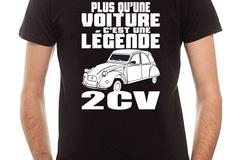 Vente au détail: T-shirt Noir 2CV Légende