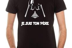 Vente au détail: T-shirt Coton Noir STAR WARS JE SUIS TON PERE
