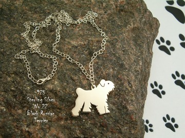Selling: Necklace Black Russian Terrier * 925 sterling silver