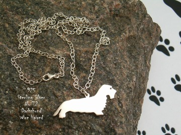 Selling: Necklace Dachshund Wire Haired * 925 sterling silver