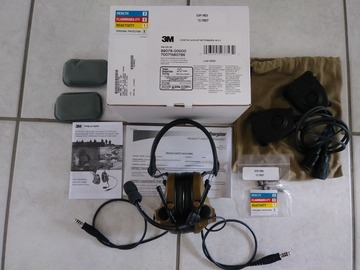 Selling: New Peltor comtac III dual comms