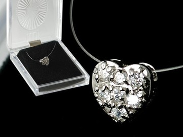 Buy Now: 50-- CUBIC ZIRCONIA HEART NECKLACE-- $1.99 PCS